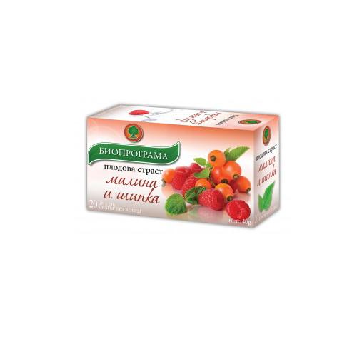 Чай Малина и шипка Биопрограма