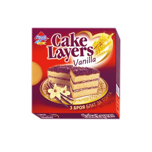 Блат за торта квадрат-ванилия Сладък път