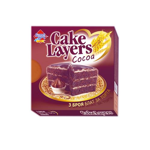 Блат за торта квадрат-какао Сладък път